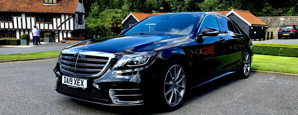 Essex chauffeur car wedding car Mercedes s class black